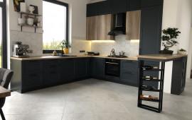На фото реализованная кухня в частном доме
