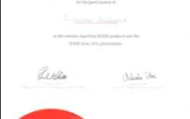 Сертификат от компании Эггрер